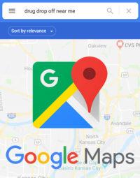 Google Maps Drug Drop-Off Finder